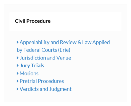 Civil Procedure Video Lecture