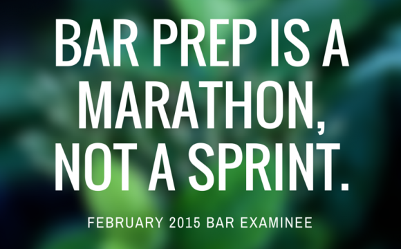 Bar prep is a marathon, not a sprint.