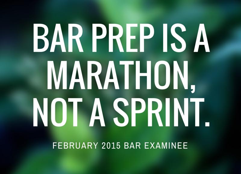Bar prep is a marathon, not a sprint.