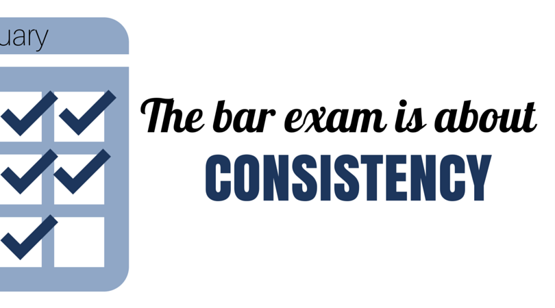 The bar exam is about Consistency