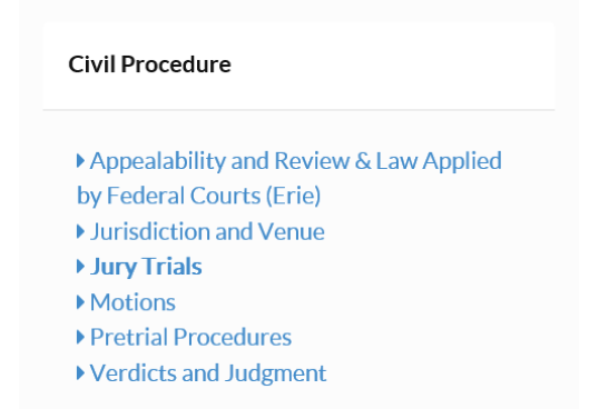 New Online Video Lectures: Civil Procedure