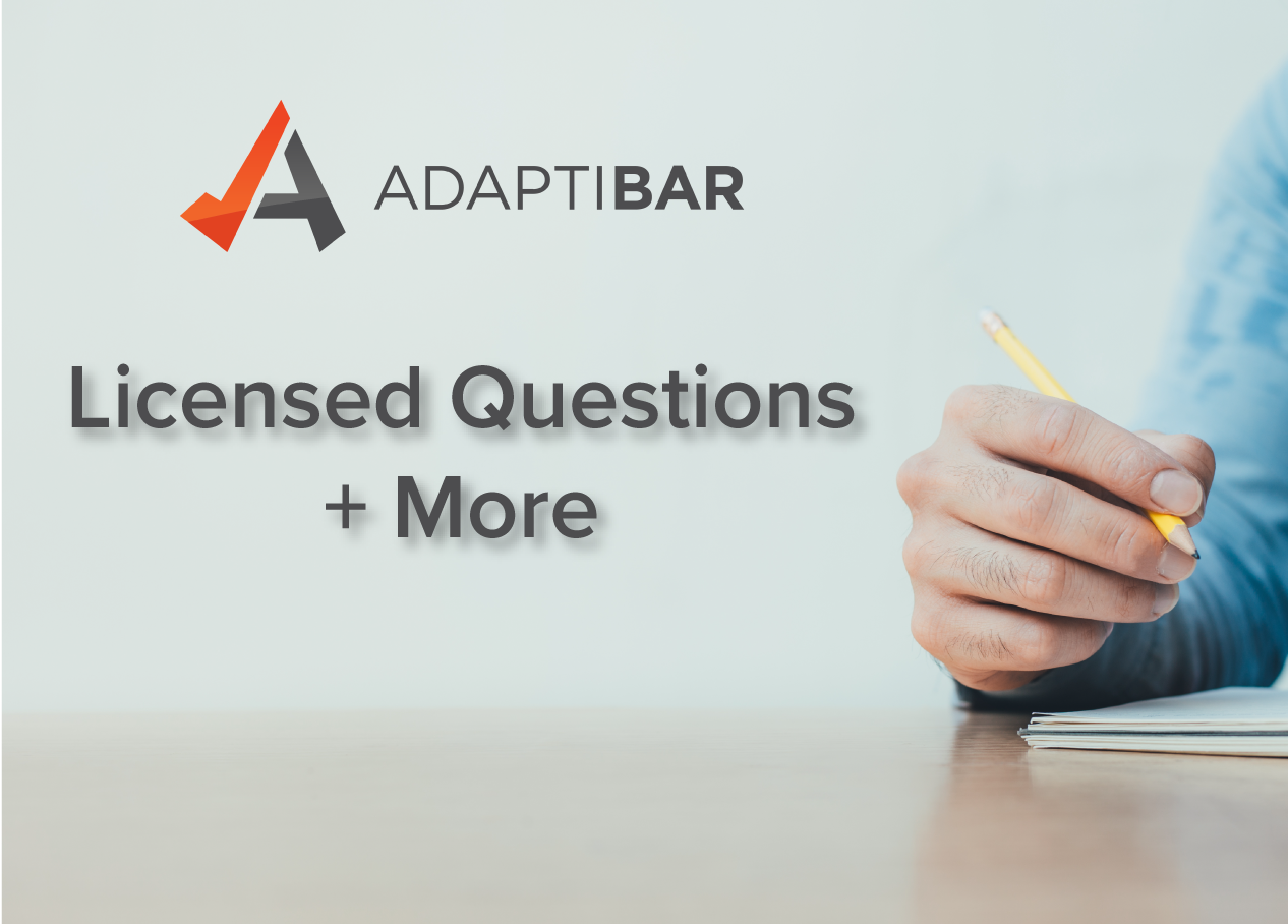 AdaptiBar MBE Simulator and Prep program Licensed questions and more