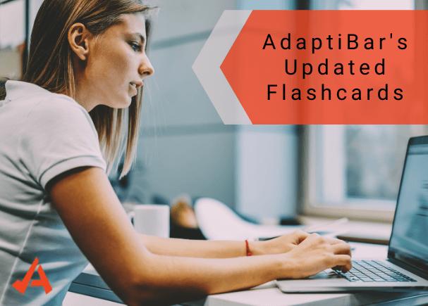 AdaptiBar's updated flashcards